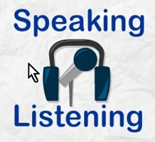 Pic of listening and speaking English