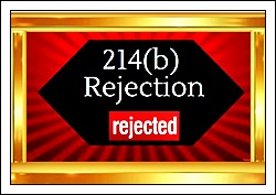 214 B Rejection Thumb