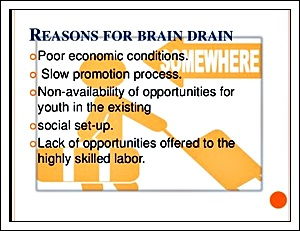 Sgraphic reasons fro brain drain